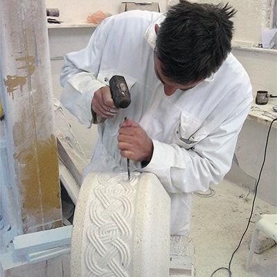Manual stone work