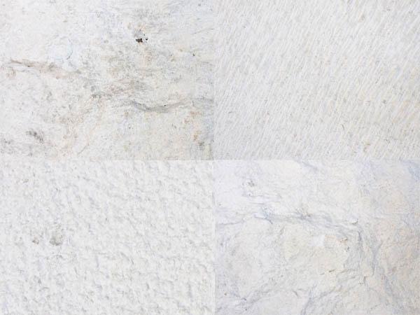 White Brac stone in four different grades. Bijeli brački kamen u četiri različite kvalitete.